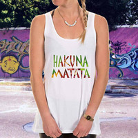 hakuna matata for men,women,tank top