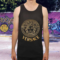 versace gold for men,women,tank top