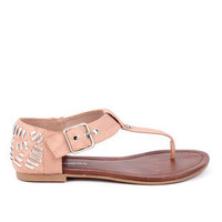 Jane Woven Ankle Sandals in Nude :: tobi
