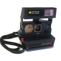 Untested Polaroid 600 Land Camera, Auto Focus 660, Vintage Polaroid Camera, Vintage Photography Equipment, Vintage Camera
