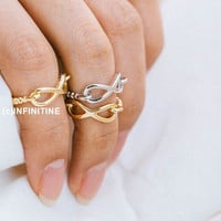 chain infinity knucklel ring,jewelry rings,fashion rings,unique rings,rings for women,girls rings,bridesmaid ring,sister ring