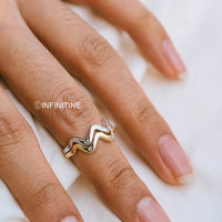 3 set cz wave line knuckle ring,jewelry rings,fashion rings,anniversary ring, unique rings,rings for women,girls rings,cz knuckle rings