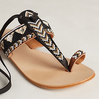 Streetscape Beaded Sandals