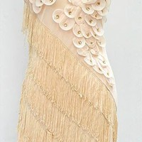 Art Deco Gatsby 1920s Style Fringe Ornate Double Side Flapper Dress