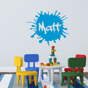Wall Decal Personalized Paint Splatter Ink Spot Kids Room Nursery Wall Decal 22404