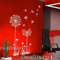 Dandelions Personlized Interior Wall Vinyl Decal by DecalStudio
