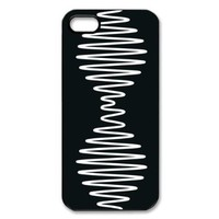 Arctic Monkeys Plastic Case/Cover FOR Apple iPhone 5, Hard Case Black/White