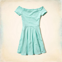 Stone Steps Beach Skater Dress
