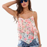 Neon Bloom Layered Tank