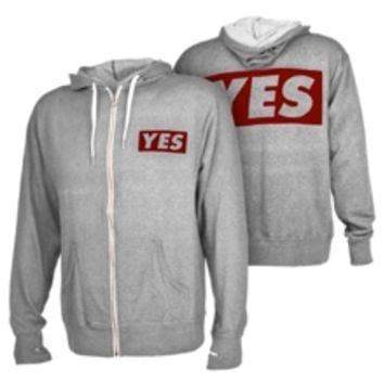 "Daniel Bryan ""YES"" Grey Lightweight Full-Zip Hoodie Sweatshirt"