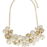 Clusters of Pearl Baubles Necklace