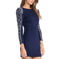 TFNC London Dionne Embellished Mini Dress in Navy