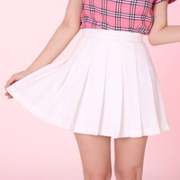 Glitters For Dinner — MADE TO ORDER -White Cheer Mini Skirt