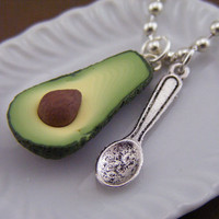 Spoonful of Avocado Necklace by shayaaron on Etsy