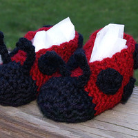 Ladybug Slippers 1824 months by staceyLynnCreates on Etsy