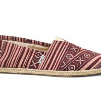 Red Brazilian Weave Men's Classics