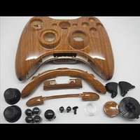 Wood Grain Xbox 360 Hydro Dipped Controller Shell Kit
