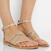 K Jacques St Tropez - Epicure snake-effect leather sandals