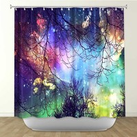 Shower Curtain Artistic Designer from DiaNoche Designs by Arist Sylvia Cook Unique, Cool, Fun, Funky, Stylish, Decorative Home Decor and Bathroom Ideas - Look to the Stars