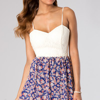 Short Spaghetti Strap Print Dress