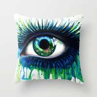 -The peacock- Throw Pillow by PeeGeeArts | Society6