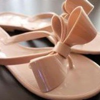 Wholesale Beach recreational butterfly flop sandal SY-C0109 nude pink(the size is a little small than normal) - Lovely Fashion