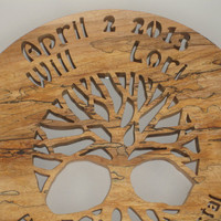 """Marriage Family Tree Wedding Gift """"Two Families Become One"""" Wall Hanging Decor Handmade"""