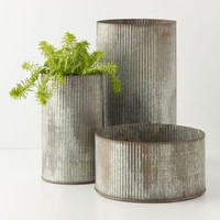 Ridged Zinc Pot - Anthropologie.com