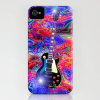Psychedelic Guitar iPhone Case by JT Digital Art  | Society6