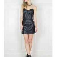 Dominatrix Leather Tube Dress