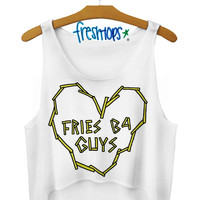 fries b4 guys crop top