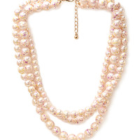 Marbled Faux Pearl Necklace