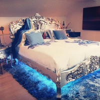 Fabulous and Baroque — Fabulous & Rococo Bed - Silver Leaf - Client Photo