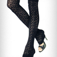 Heart Pointelle Lace Leg Warmers | PLASTICLAND