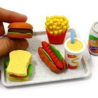 IwakoFood Erasers : American Fast Food on Tray Novelty