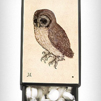Vintage Owl Slide Box with Mints | PLASTICLAND