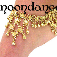 Belly Dance Coin Anklet Fusion Tribal Gold Silver