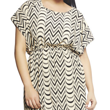 Chevron Stripe Fit 'N Flare Dress | Wet Seal