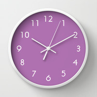 Radiant Orchid Wall Clock by BeautifulHomes | Society6