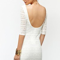Metallic Lace Dress in  Clothes at Nasty Gal