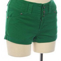MUST-HAVES COLORED COTTON SHORTS WITH BUTTONS-Shorts-denim shorts,leather shorts,striped shorts,short shorts,cotton shorts,jean shorts,high waisted short,high shorts,wool shorts,pants shorts,navy shorts