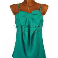 Top mousseline BORA BORA vert  | Victoria Kh