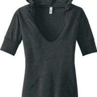 District Threads - Junior Ladies Tri-Blend Hoodie. DT238
