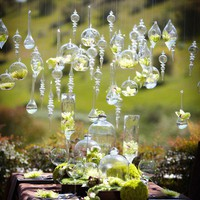 beautiful suspended bud vase ornaments