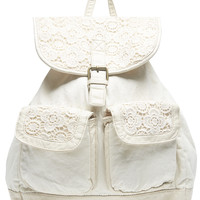 Boho Crochet Detail Backpack | Wet Seal