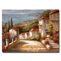 "Trademark Art ""Home in Tuscany"" by Joval Painting Print on Canvas"