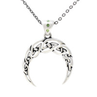 Celtic Crescent Necklace - CCJ192 by Medieval Collectibles