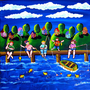Kids Children Goin&#x27; Fishin&#x27; Whimsical Summer by reniebritenbucher