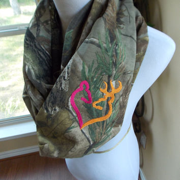 Real Tree Camo Infinity Scarf - Doe and Buck