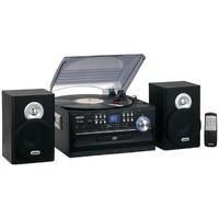 Jensen JTA-475B 3-Speed Turntable with CD, AM/FM Stereo Radio, Cassette and Remote